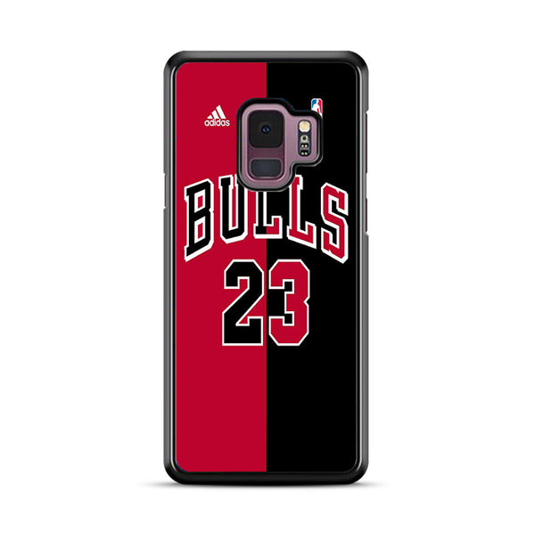 Red Black Bulls 23 Jersey Logo Samsung Galaxy S9 Plus Case | Miloscase