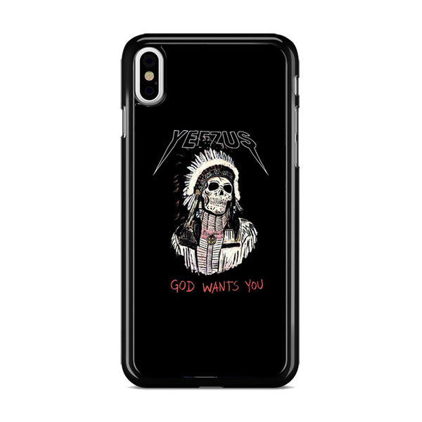 Yeezus God Wants You Skull Indian Apache iPhone XS Case