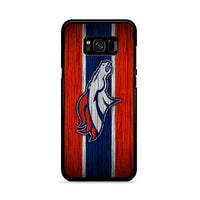 Broncos Denver Logo Wood Texture Samsung Galaxy S8 Plus Case