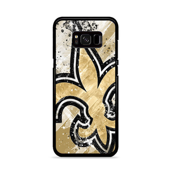 Brush Splat Art Wallpaper New Orleans Saints Samsung Galaxy S8 Case