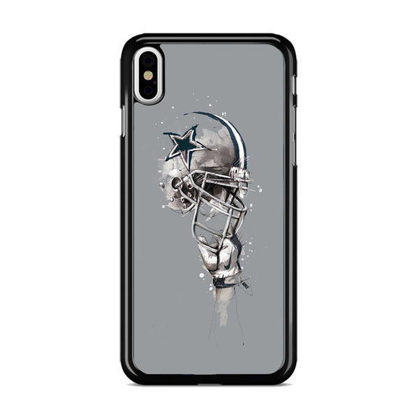 Dallas Cowboys Helmet Painting Florian Nicolle iPhone XS Max Case