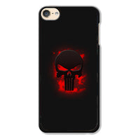 Red Blood Splatter The Punisher Skull Logo iPod 6 Case