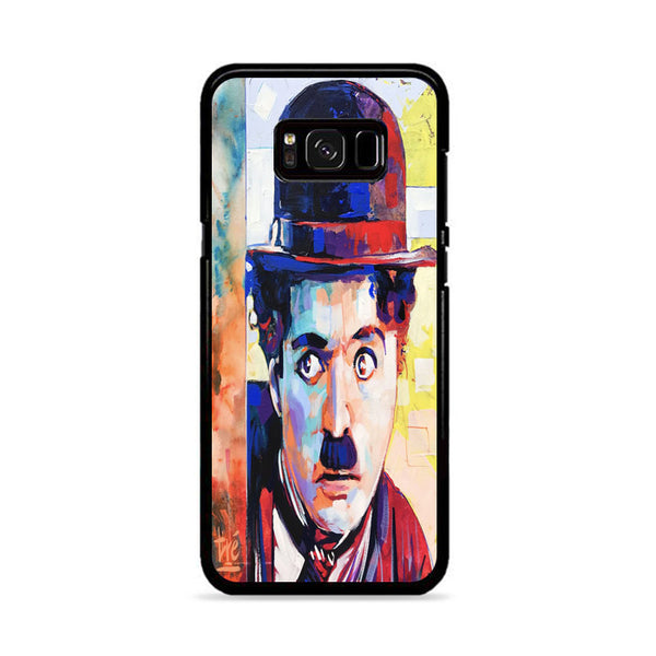 Charlie Chaplin Painting Art Samsung Galaxy S8 Case