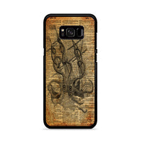 Kraken Attacking Ship Vintage Dictionary Paper Samsung Galaxy S8 Case
