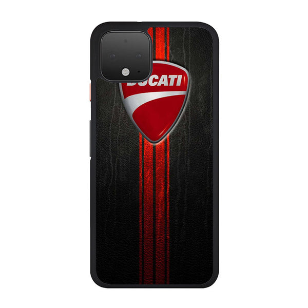 Leather Red Black Texture Ducati Logo Google Pixel 4 XL Case