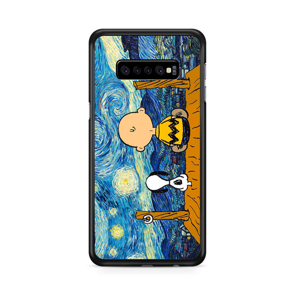 Snoopy And Charlie And Starry Night Samsung Galaxy S10 Case