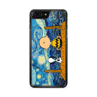 Snoopy And Charlie And Starry Night iPhone 8 Plus Case