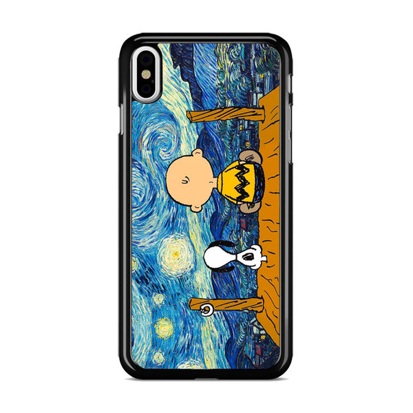 Snoopy And Charlie And Starry Night iPhone X Case