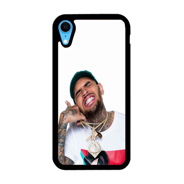 Chris Brown Thumbs Up Wallpaper iPhone XR Case