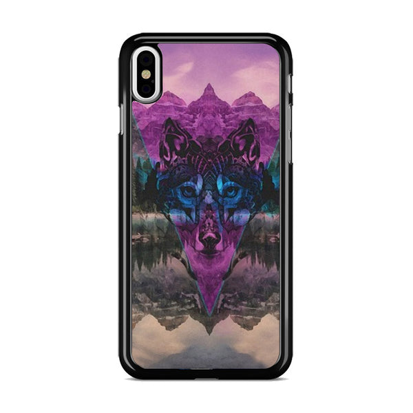 Tribal Wolf Chevron Noise Painting iPhone XS Max Case