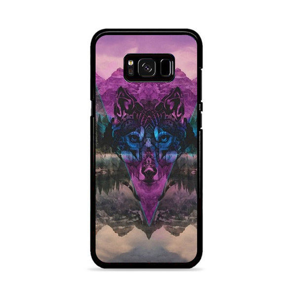 Tribal Wolf Chevron Noise Painting Samsung Galaxy S8 Plus Case