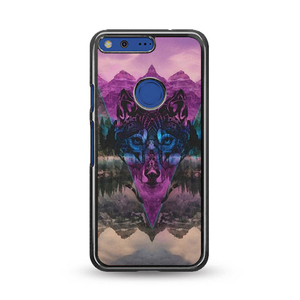 Tribal Wolf Chevron Noise Painting Google Pixel Case