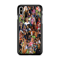 Alex Morgan Collage Woman Soccer Wallpaper iPhone XS Max Case