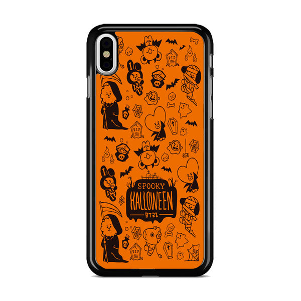 Bts Bt21 Halloween Orange iPhone XS Case