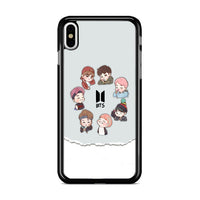 Bts Chibi Art iPhone X Case