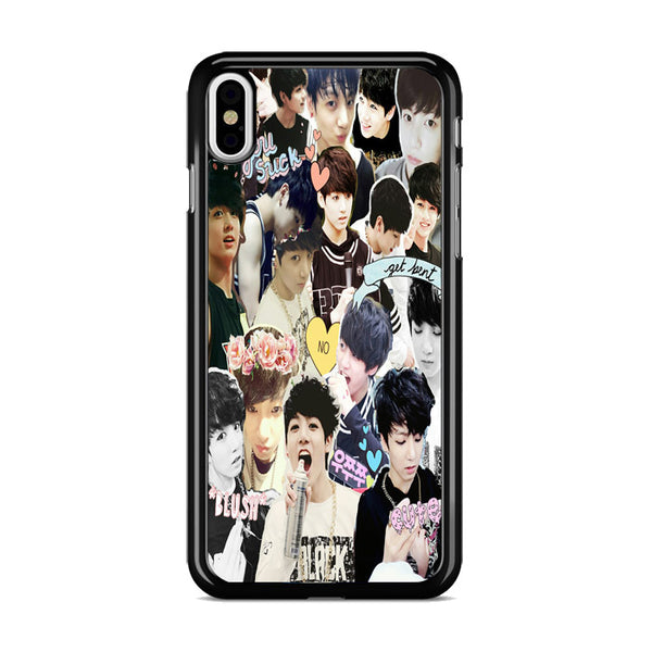 Bts Jungkook Collage Wallpaper iPhone X Case