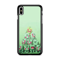 Bulbasaur Pokemon Green Collage iPhone XS Case