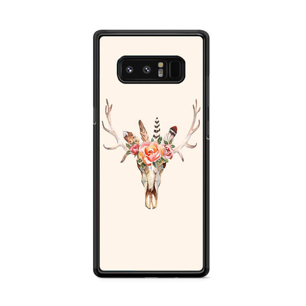 Skull Antler Feather And Flower Samsung Galaxy Note 8 Case