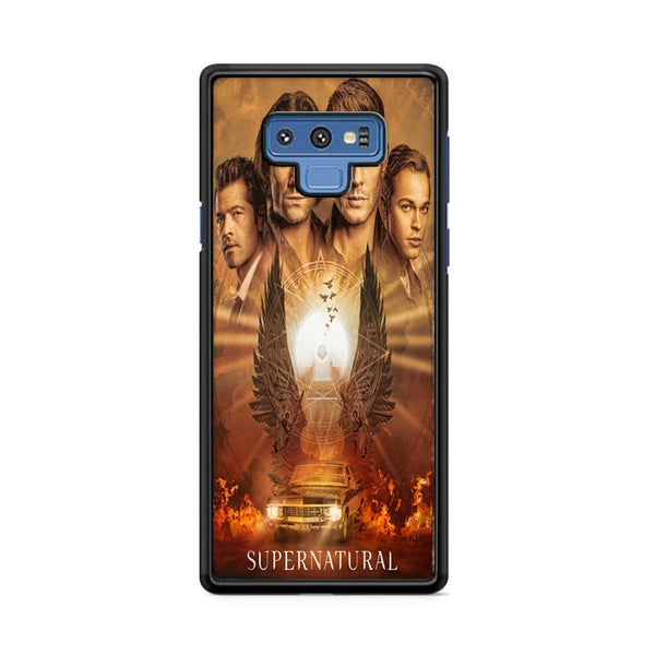 Supernatural Car Wings Flame Art Poster Samsung Galaxy Note 9 Case