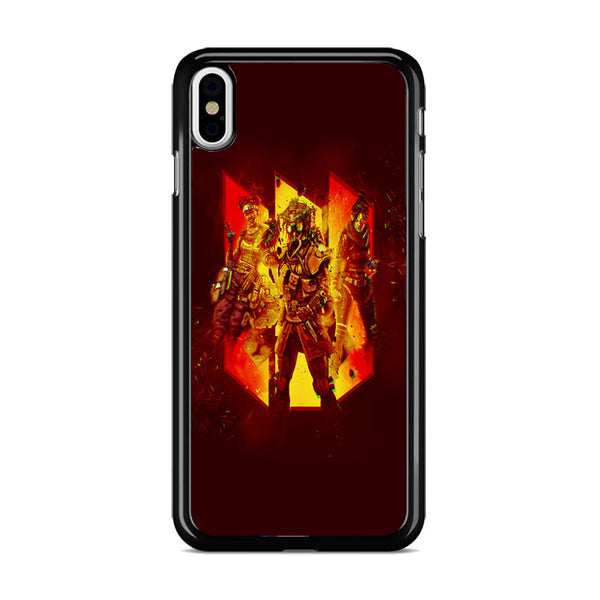 Apex Legends Bloodhound Wraith Lifeline Red iPhone X Case