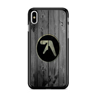Aphex Lambda Half Life Logo Dark Wood Wallpaper iPhone XS Case