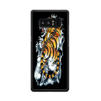 Japanese Tiger Art Backgrounds Wallpaper Samsung Galaxy Note 8 Case