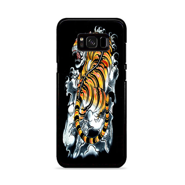 Japanese Tiger Art Backgrounds Wallpaper Samsung Galaxy S8 Case