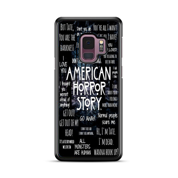 American Horror Story Quotes Collage Samsung Galaxy S9 Case