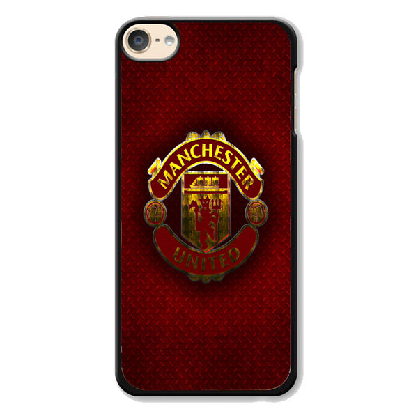 Manchester United F.C Metal Carbon Fiber Logo iPod 6 Case