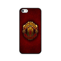Manchester United F.C Metal Carbon Fiber Logo iPhone 5|5S|SE Case