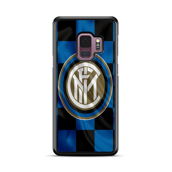 Inter Milan Logo Flag Wallpaper Samsung Galaxy S9 Plus Case
