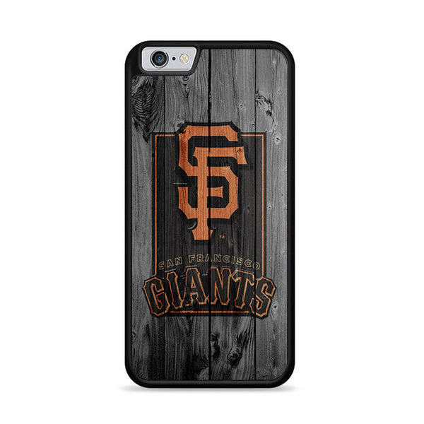 San Francisco Giants Logo Dark Wood Wallpaper iPhone 6 Plus|6S Plus Case