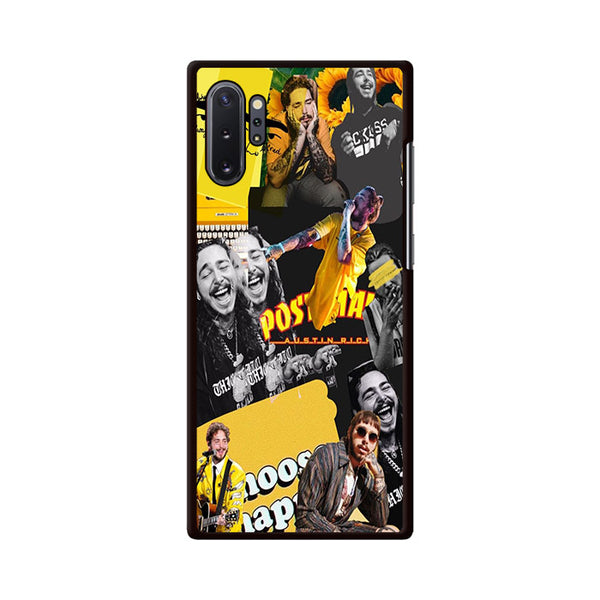 Post Malone Yellow Collage Discover Samsung Galaxy Note 10 Case | Miloscase