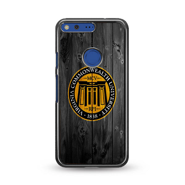Virginia Commonwealth University 1838 Logo Dark Wood Wallpaper Google Pixel XL Case