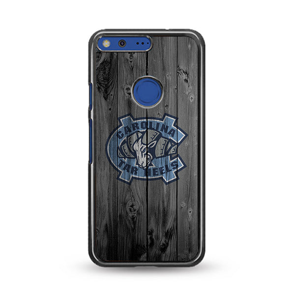 Northern Colorado Carolina Tar Heels Logo Dark Wood Wallpaper Google Pixel XL Case