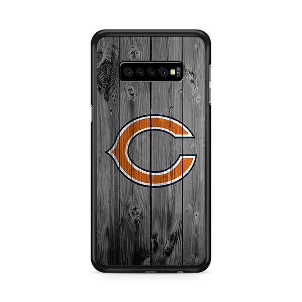 New Chicago Bears NFL Logo Dark Wood Wallpaper Samsung Galaxy S10e Case