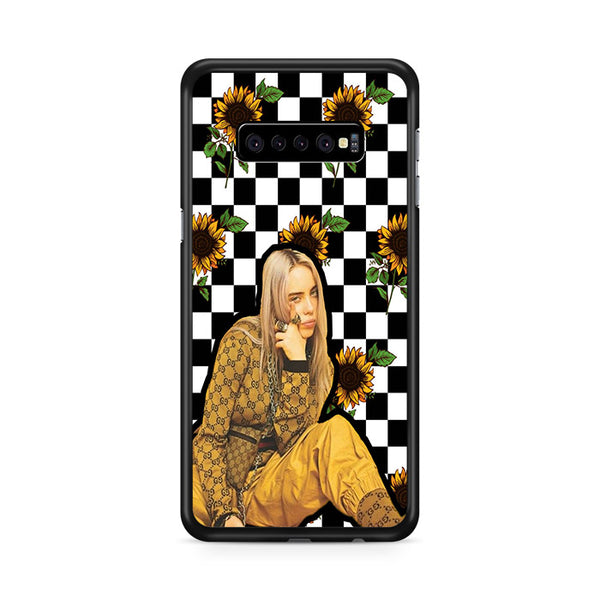 Billie Eilish Checker Board Sunflower Samsung Galaxy S10e Case