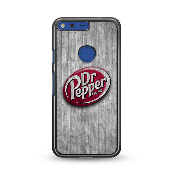 Dr Pepper 1885 Logo Wood Wallpaper Google Pixel XL Case