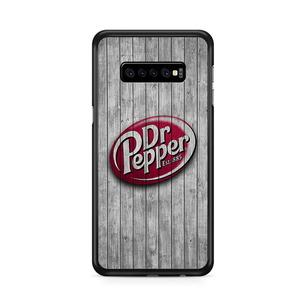 Dr Pepper 1885 Logo Wood Wallpaper Samsung Galaxy S10e Case