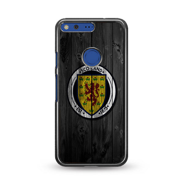 Scotland National Team Logo Dark Wood Wallpaper Google Pixel XL Case