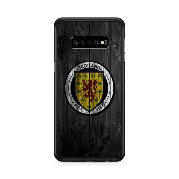 Scotland National Team Logo Dark Wood Wallpaper Samsung Galaxy S10e Case