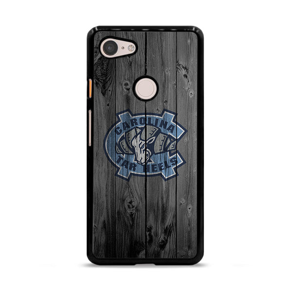 Northern Colorado Carolina Tar Heels Logo Dark Wood Wallpaper Google Pixel 3 XL Case