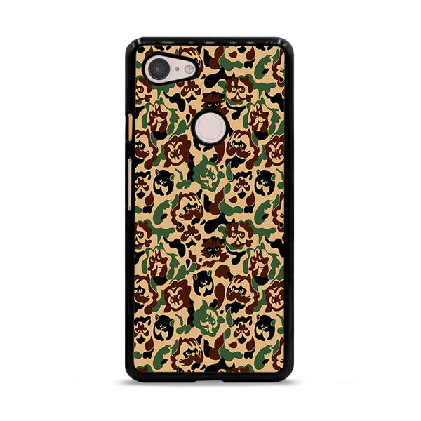 Cat Hype Camo Camouflage Google Pixel 3 Case