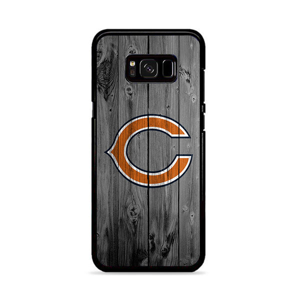 New Chicago Bears NFL Logo Dark Wood Wallpaper Samsung Galaxy S8 Case