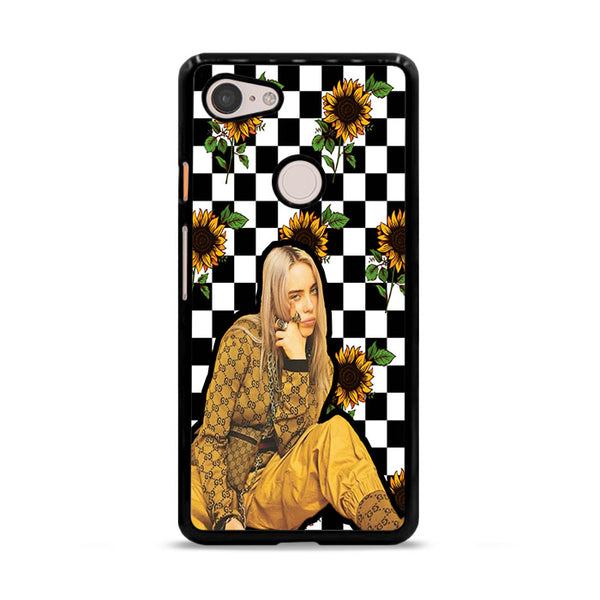 Billie Eilish Checker Board Sunflower Google Pixel 3 XL Case
