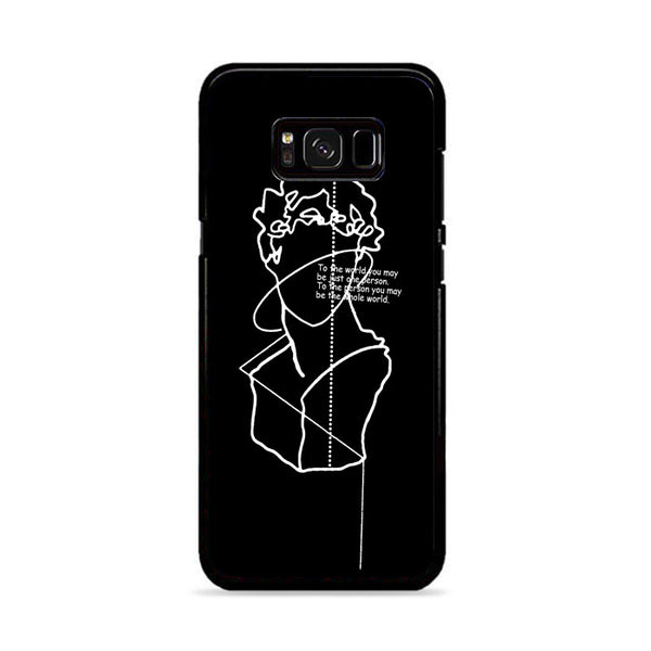 Thinking Man Abstract Art Line Drawing Aesthetics Samsung Galaxy S8 Case