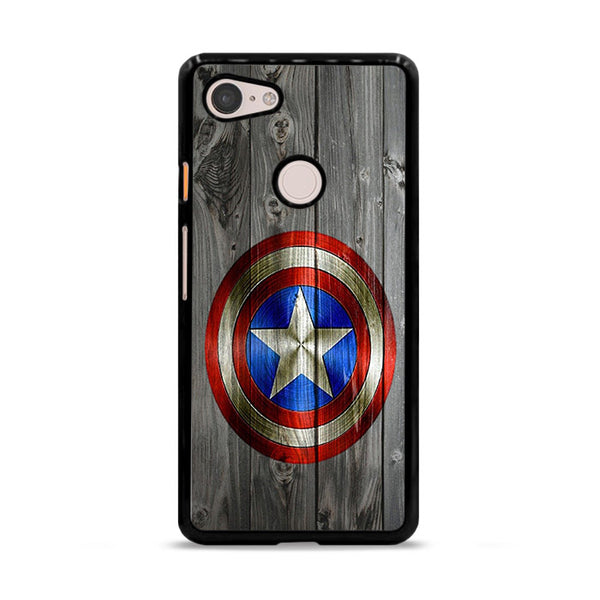 Captain America Shield Wood Photo Google Pixel 3 XL Case