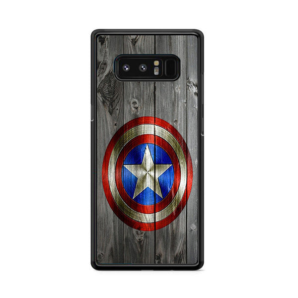 Captain America Shield Wood Photo Samsung Galaxy Note 8 Case