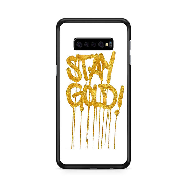 stay gold dorado glitter pattern Samsung Galaxy S10e Case