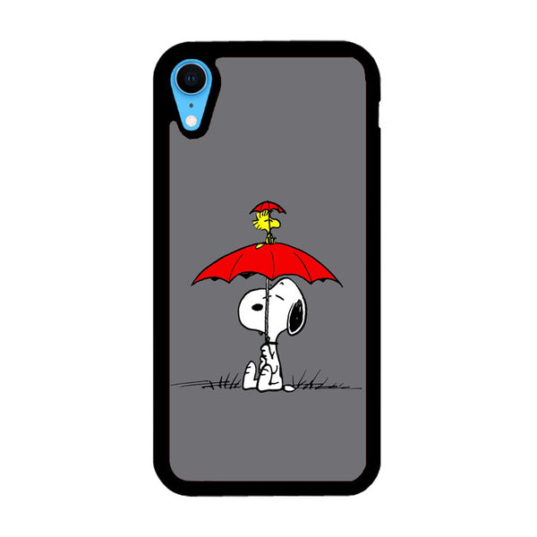 Snoopy Woodstock Umbrella iPhone XR Case
